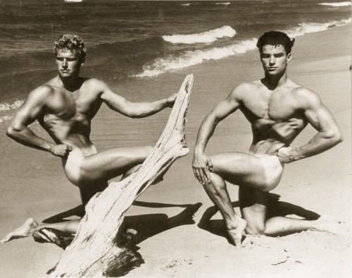 I modelli Glenn Bishop e Richard Alan in una foto degli anni Sessanta