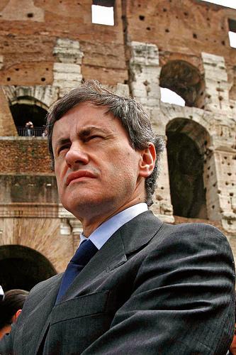 Gianni Alemanno, sindaco di Roma